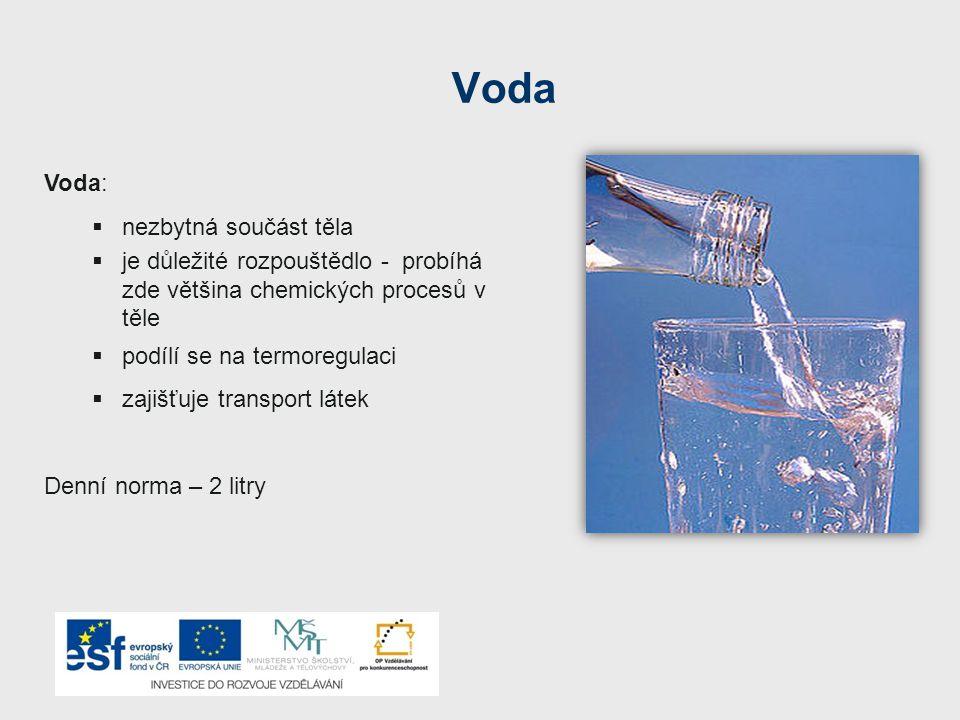 Voda Voda: nezbytná součást těla