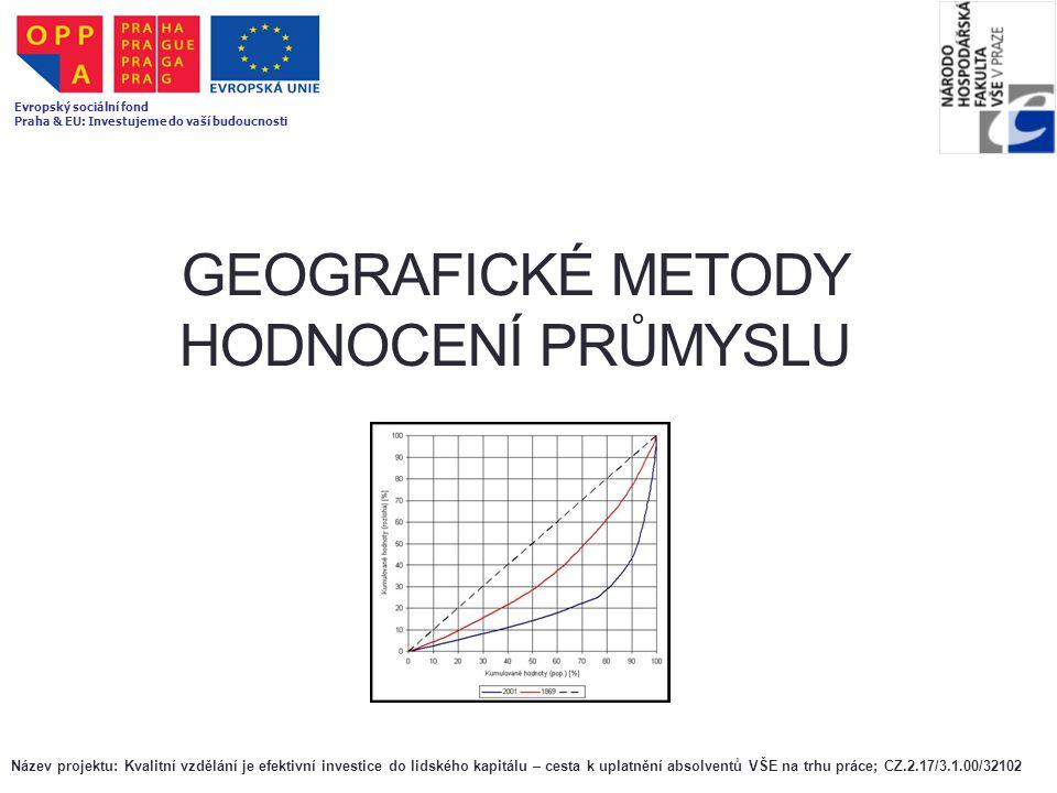Geografické metody hodnocení průmyslu