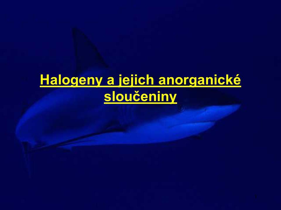 Halogeny a jejich anorganické sloučeniny