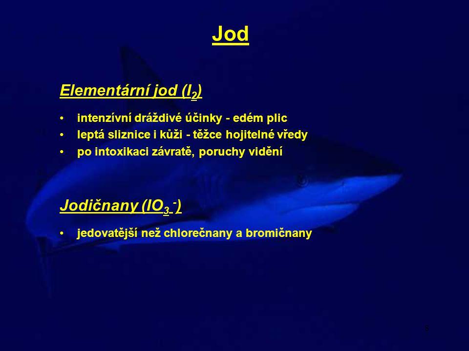 Jod Elementární jod (I2) Jodičnany (IO3 -)