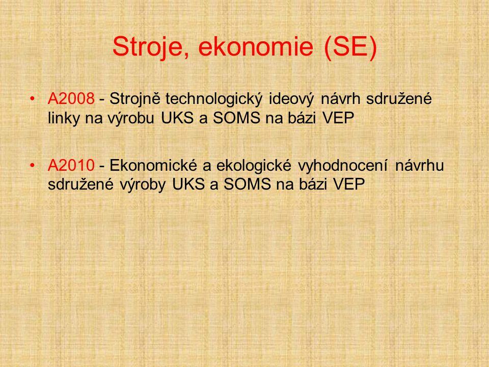 Stroje, ekonomie (SE) A2008 - Strojně technologický ideový návrh sdružené linky na výrobu UKS a SOMS na bázi VEP