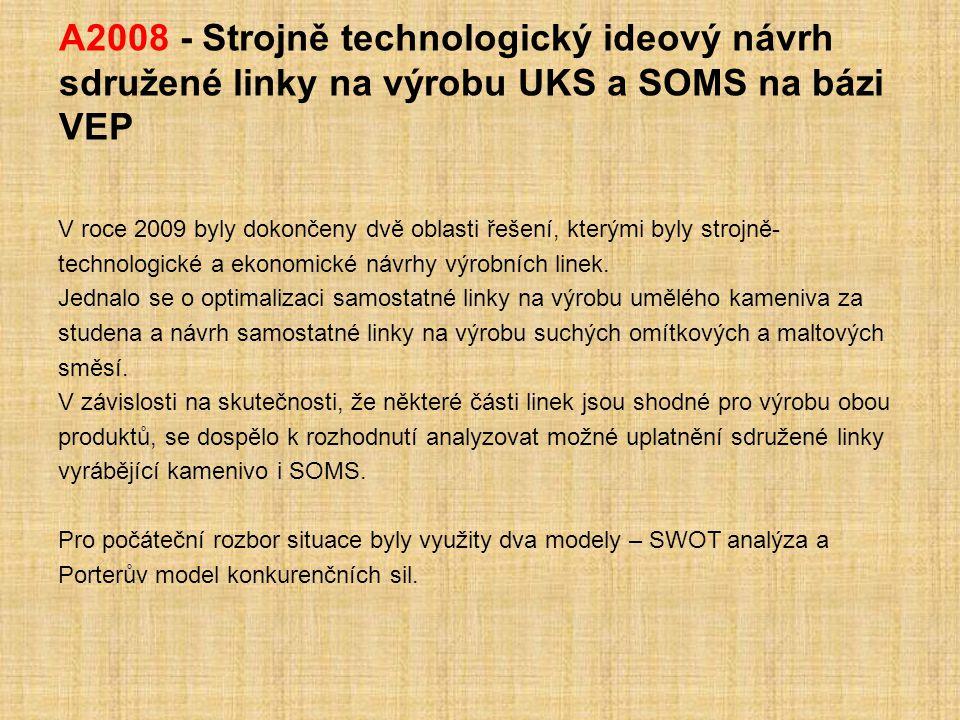 A2008 - Strojně technologický ideový návrh sdružené linky na výrobu UKS a SOMS na bázi VEP