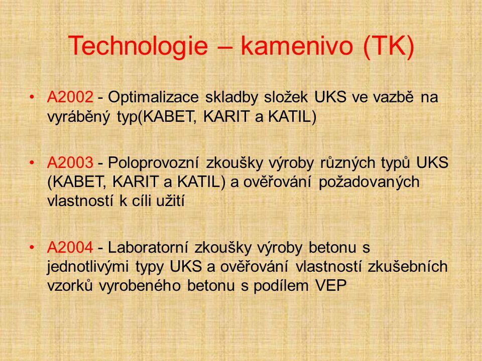 Technologie – kamenivo (TK)