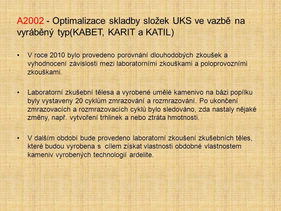 A2002 - Optimalizace skladby složek UKS ve vazbě na vyráběný typ(KABET, KARIT a KATIL)