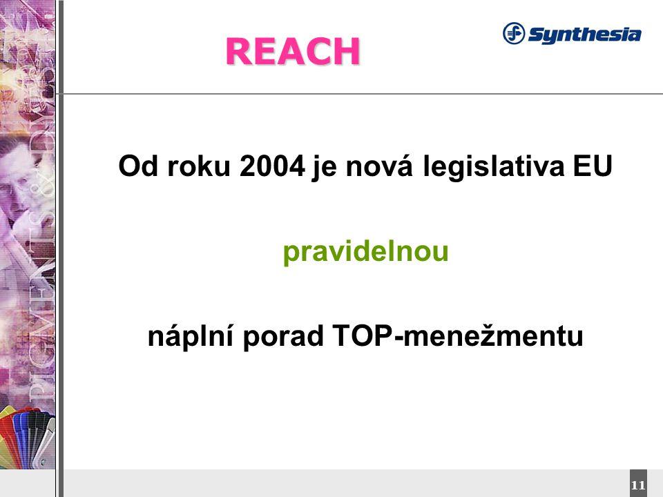 Od roku 2004 je nová legislativa EU náplní porad TOP-menežmentu