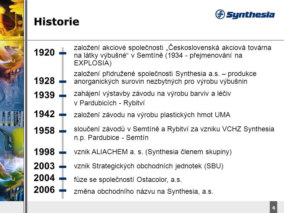 """Historie založení akciové společnosti """"Československá akciová továrna na látky výbušné v Semtíně (1934 - přejmenování na EXPLOSIA)"""