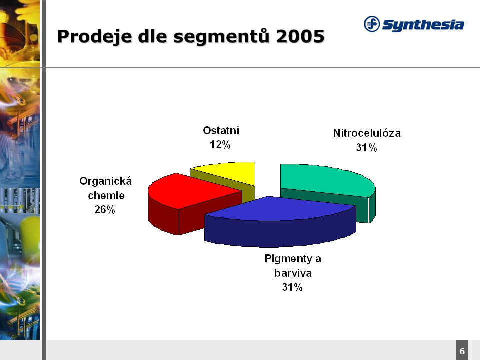 Prodeje dle segmentů 2005