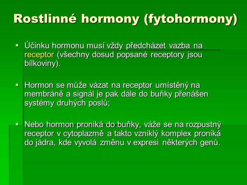 Rostlinné hormony (fytohormony)