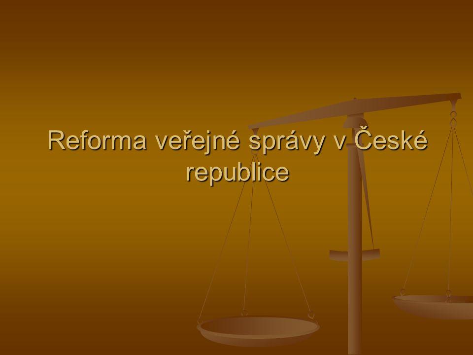 Reforma veřejné správy v České republice