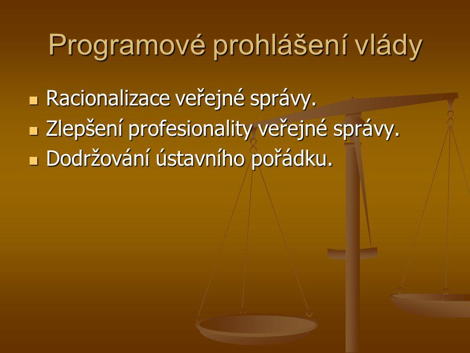 Programové prohlášení vlády