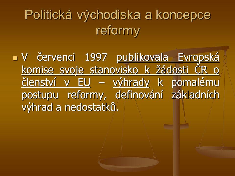Politická východiska a koncepce reformy