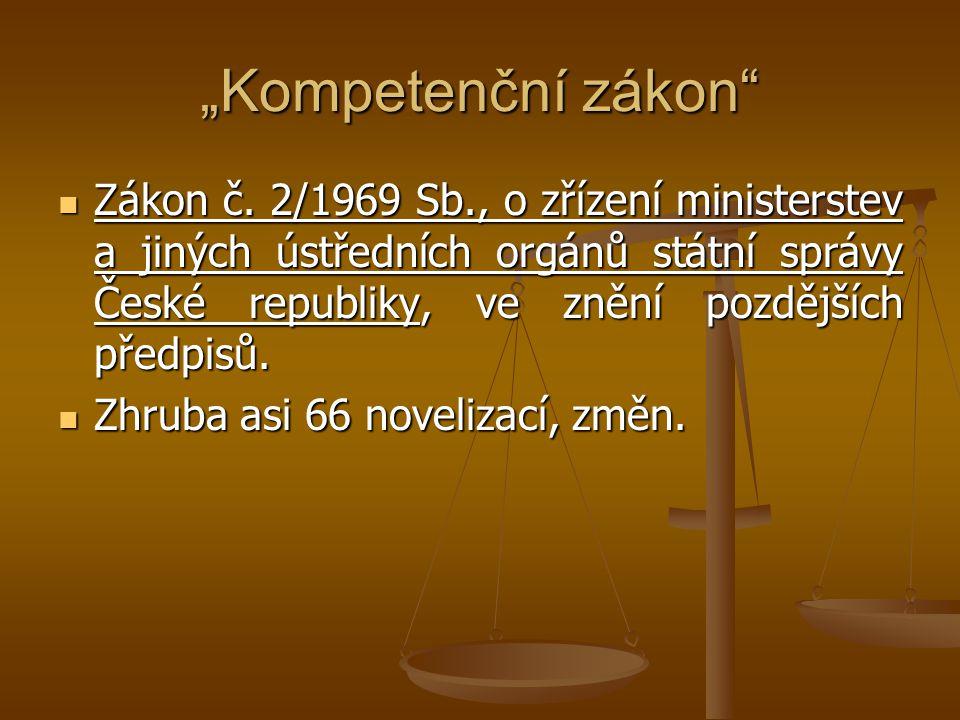 """""""Kompetenční zákon"""