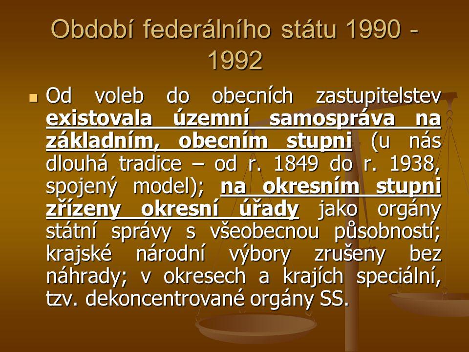 Období federálního státu 1990 - 1992