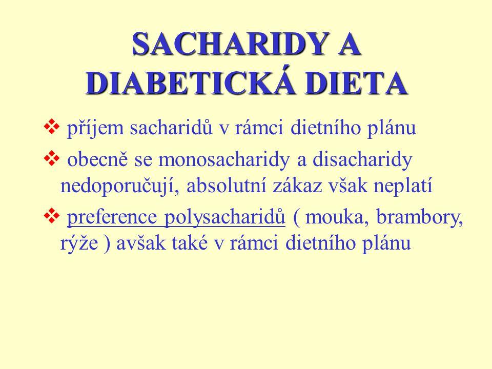 SACHARIDY A DIABETICKÁ DIETA