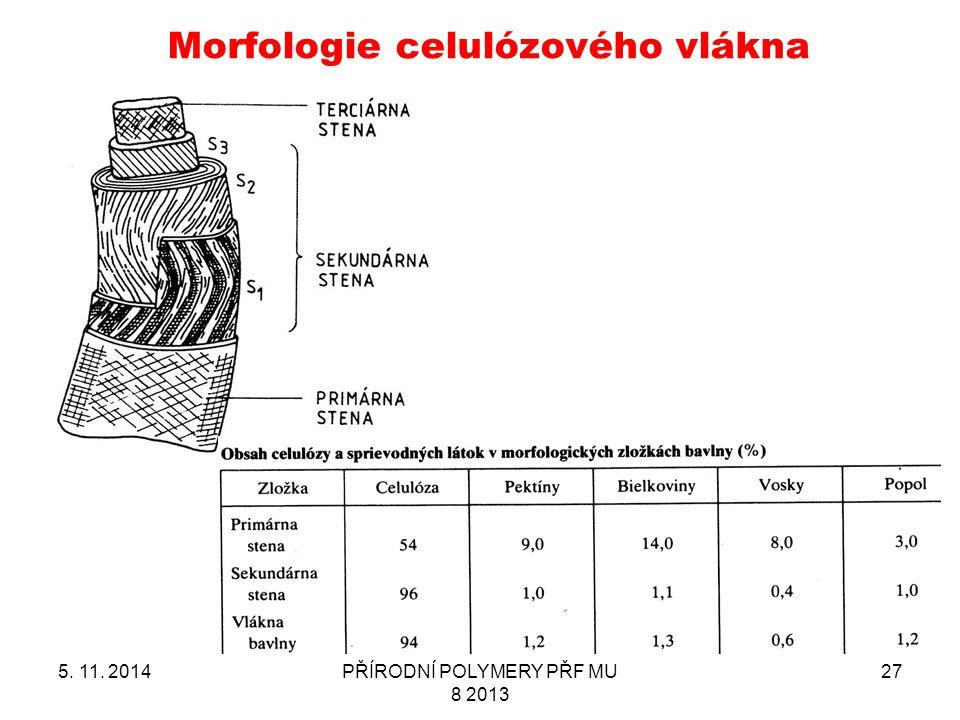Morfologie celulózového vlákna