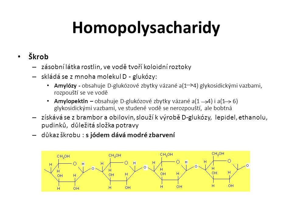 Homopolysacharidy Škrob