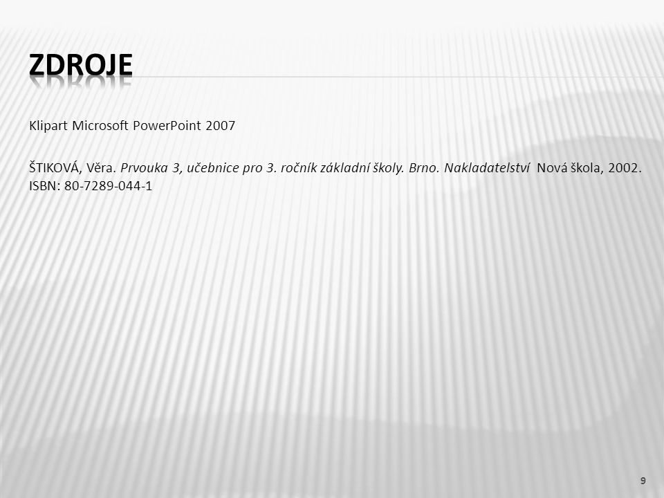 ZDROJE Klipart Microsoft PowerPoint 2007