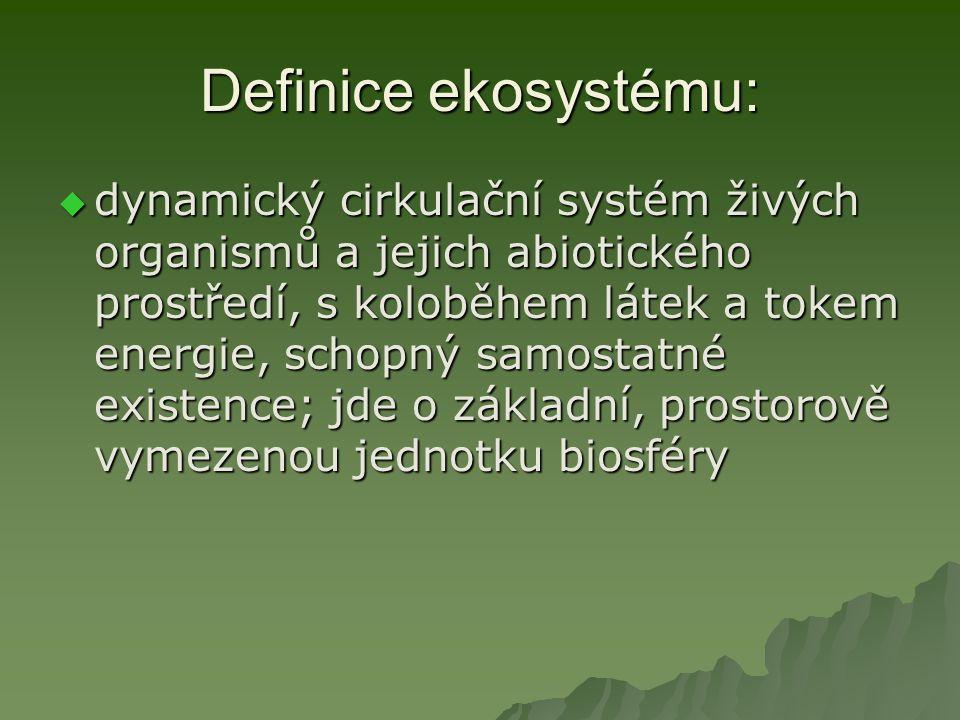 Definice ekosystému: