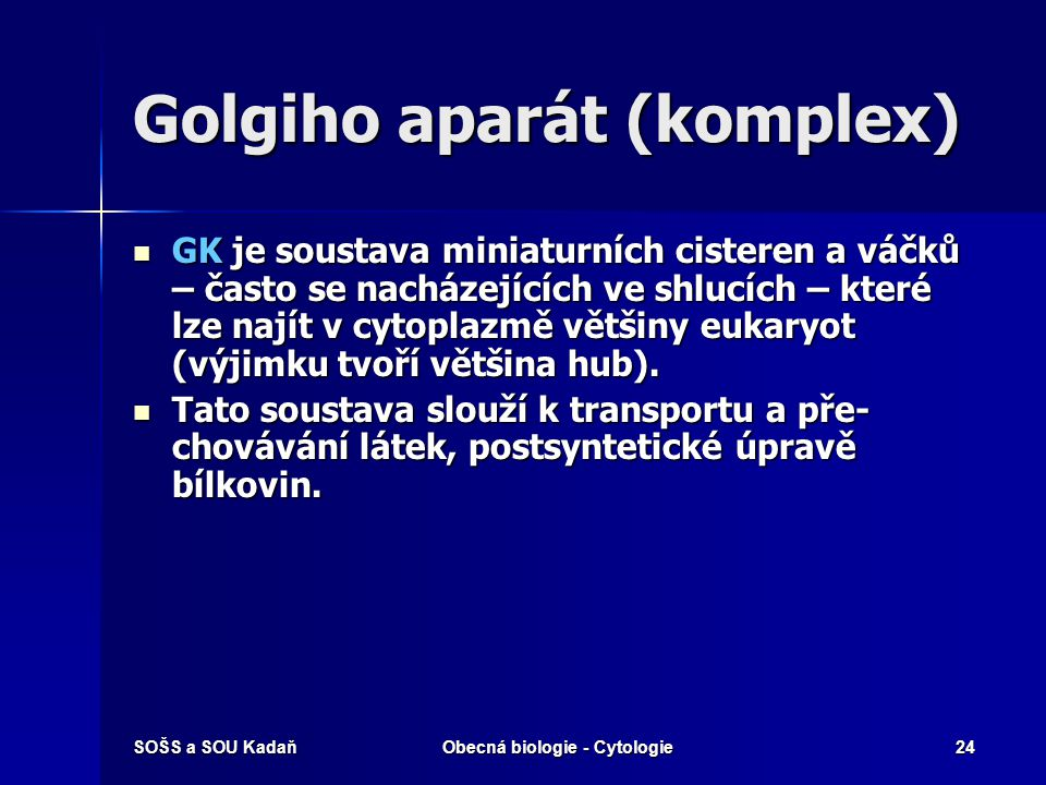Golgiho aparát (komplex)
