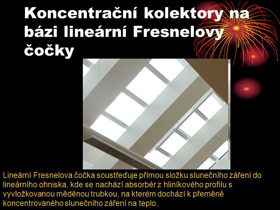 Koncentrační kolektory na bázi lineární Fresnelovy čočky