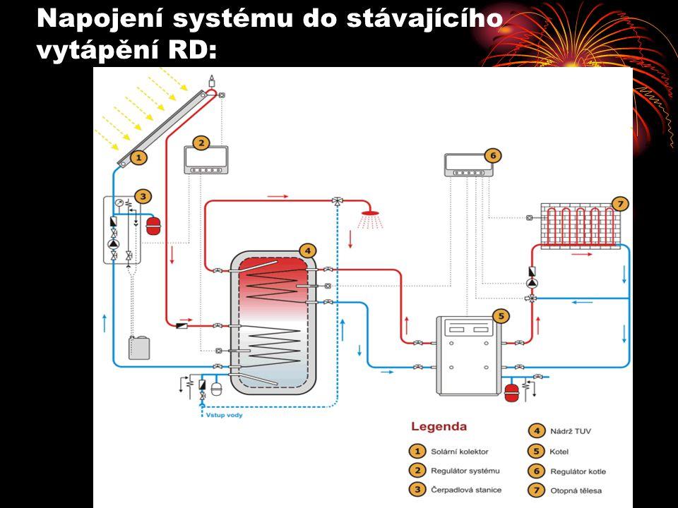 Napojení systému do stávajícího vytápění RD: