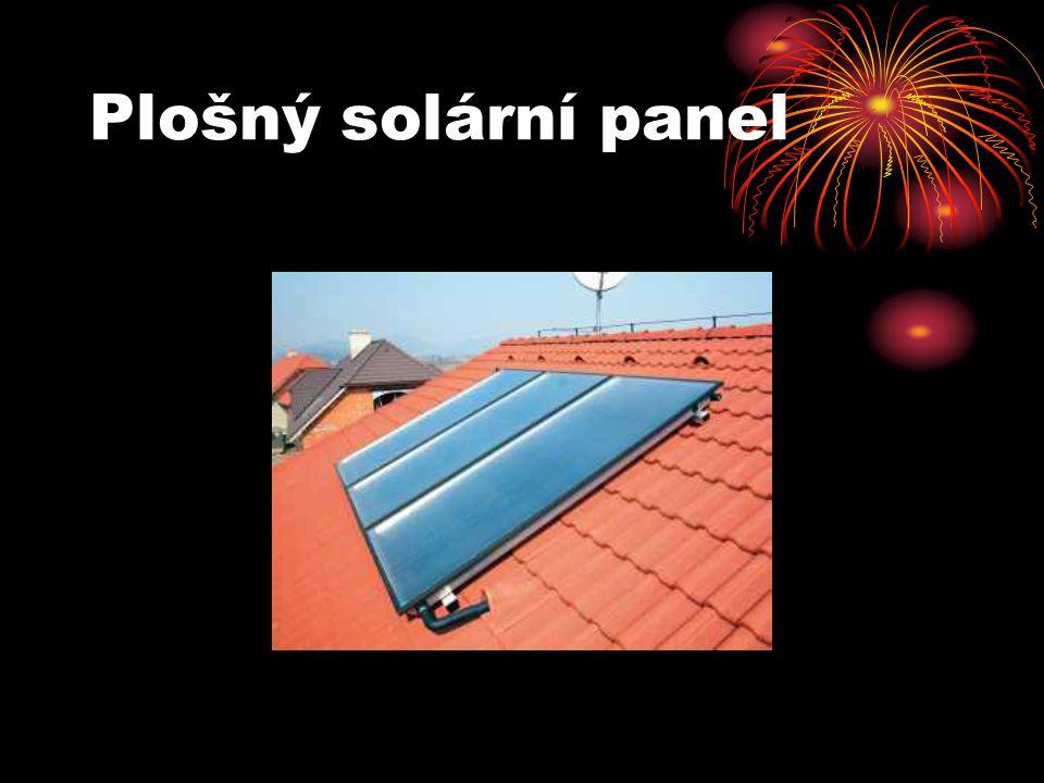 Plošný solární panel