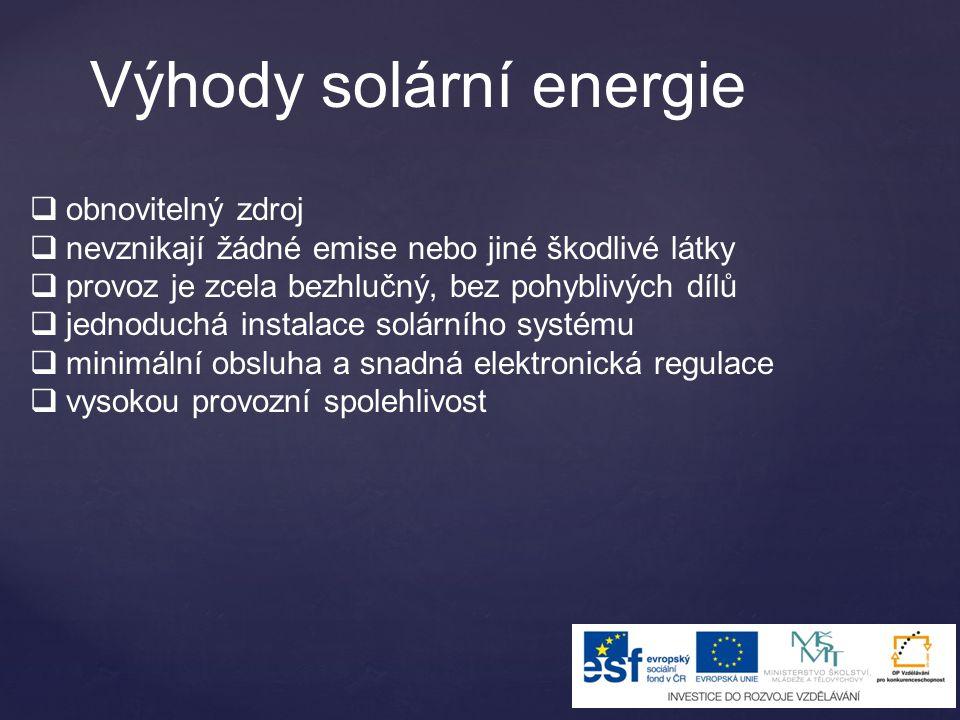 Výhody solární energie