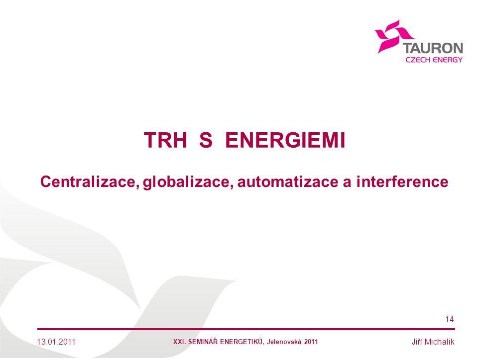 Centralizace, globalizace, automatizace a interference