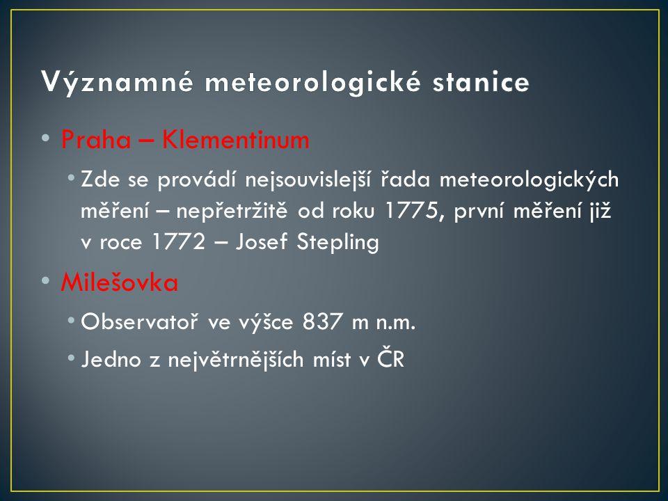 Významné meteorologické stanice