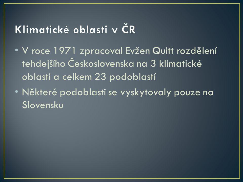 Klimatické oblasti v ČR