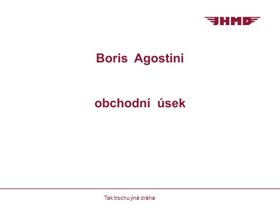 Boris Agostini obchodní úsek