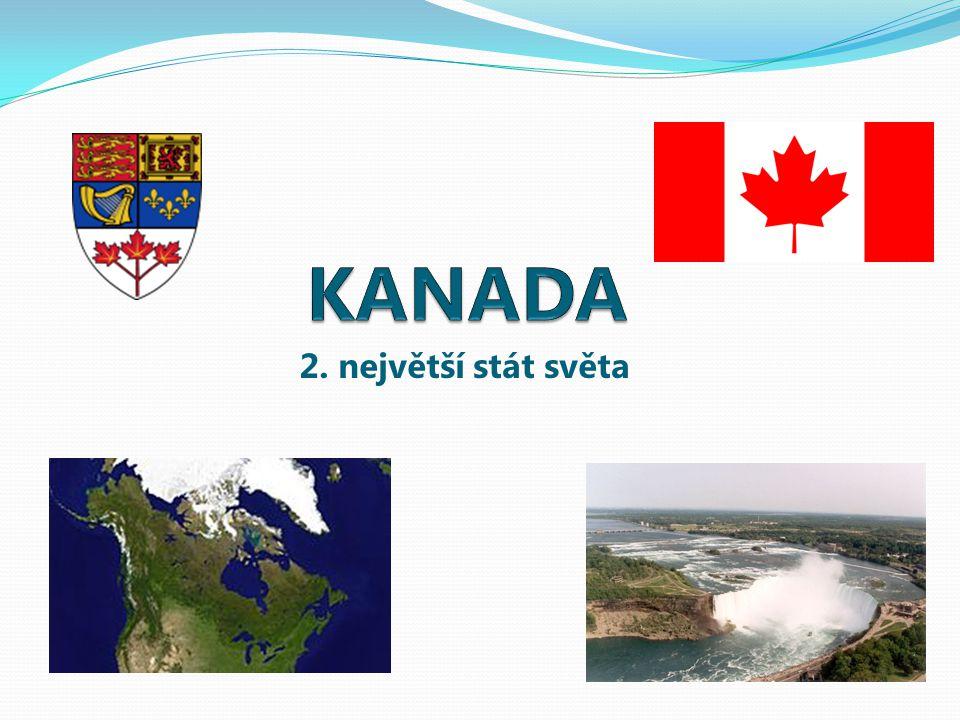 KANADA 2. největší stát světa