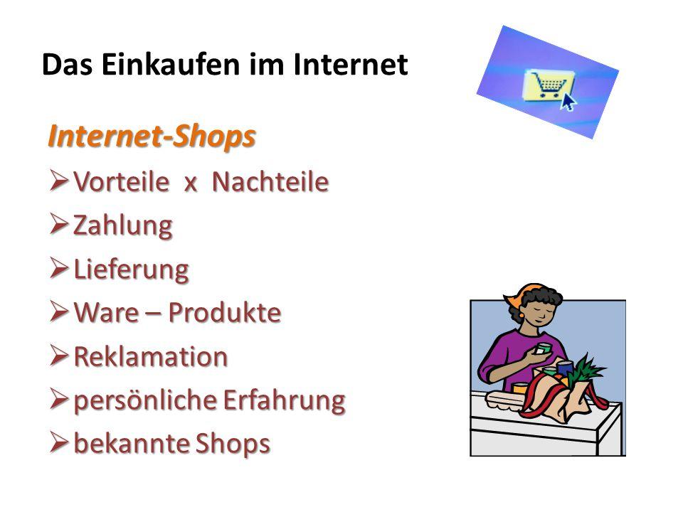 Das Einkaufen im Internet