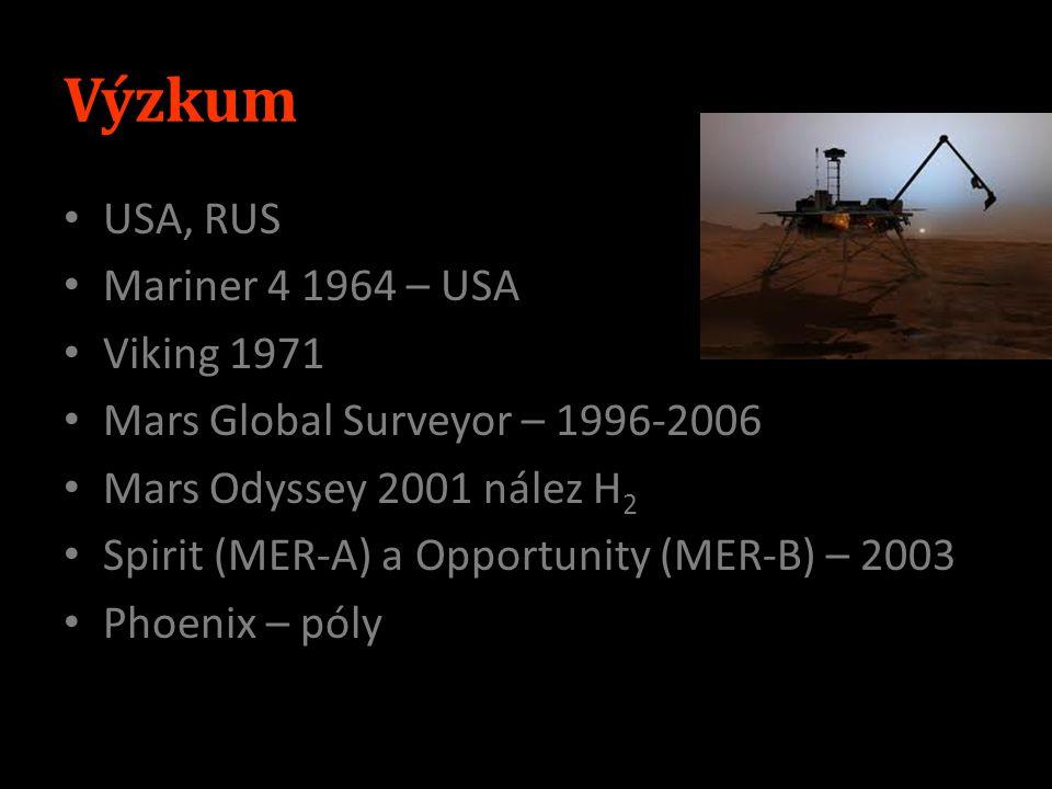 Výzkum USA, RUS Mariner 4 1964 – USA Viking 1971