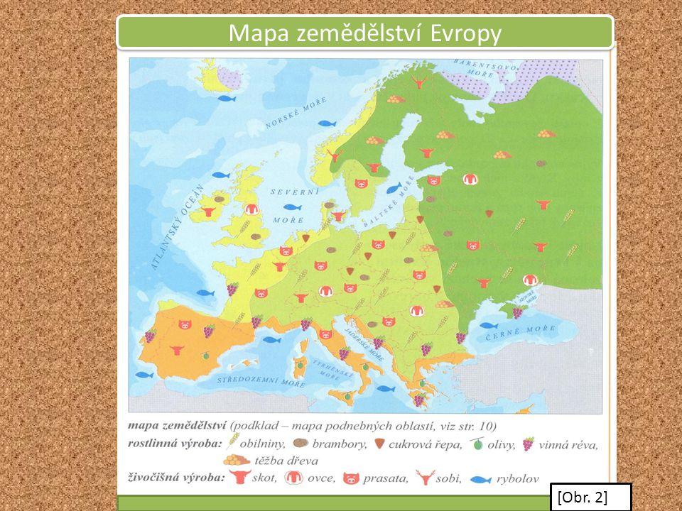 Mapa zemědělství Evropy