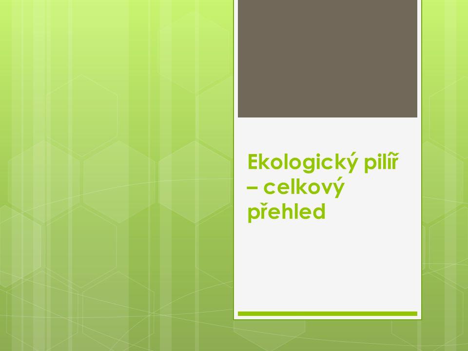 Ekologický pilíř – celkový přehled