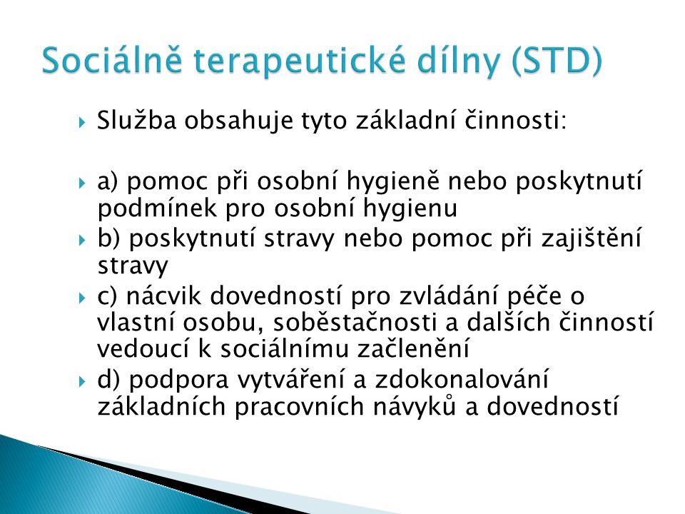Sociálně terapeutické dílny (STD)