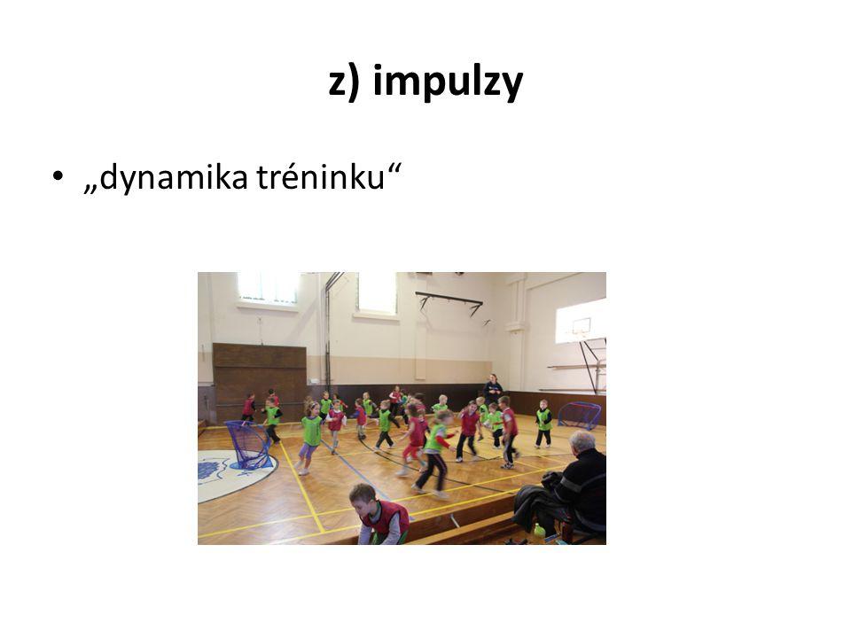 """z) impulzy """"dynamika tréninku"""