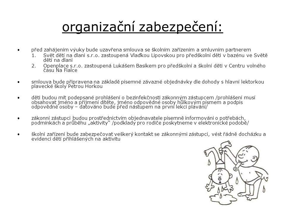 organizační zabezpečení: