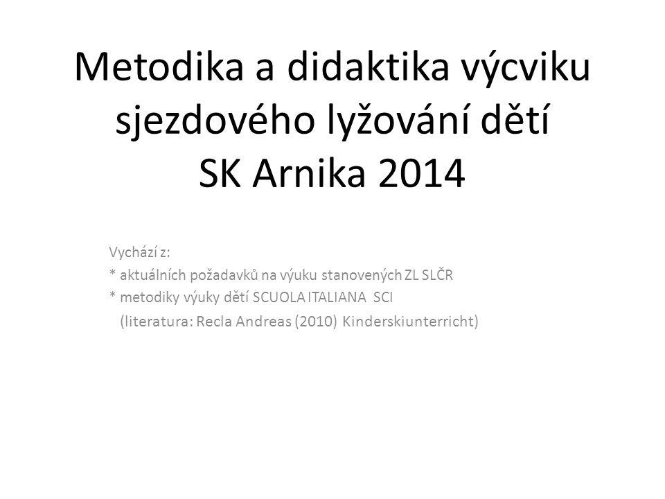 Metodika a didaktika výcviku sjezdového lyžování dětí SK Arnika 2014