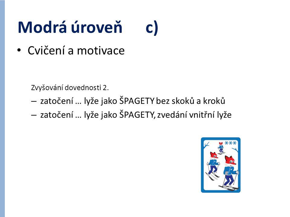 Modrá úroveň c) Cvičení a motivace