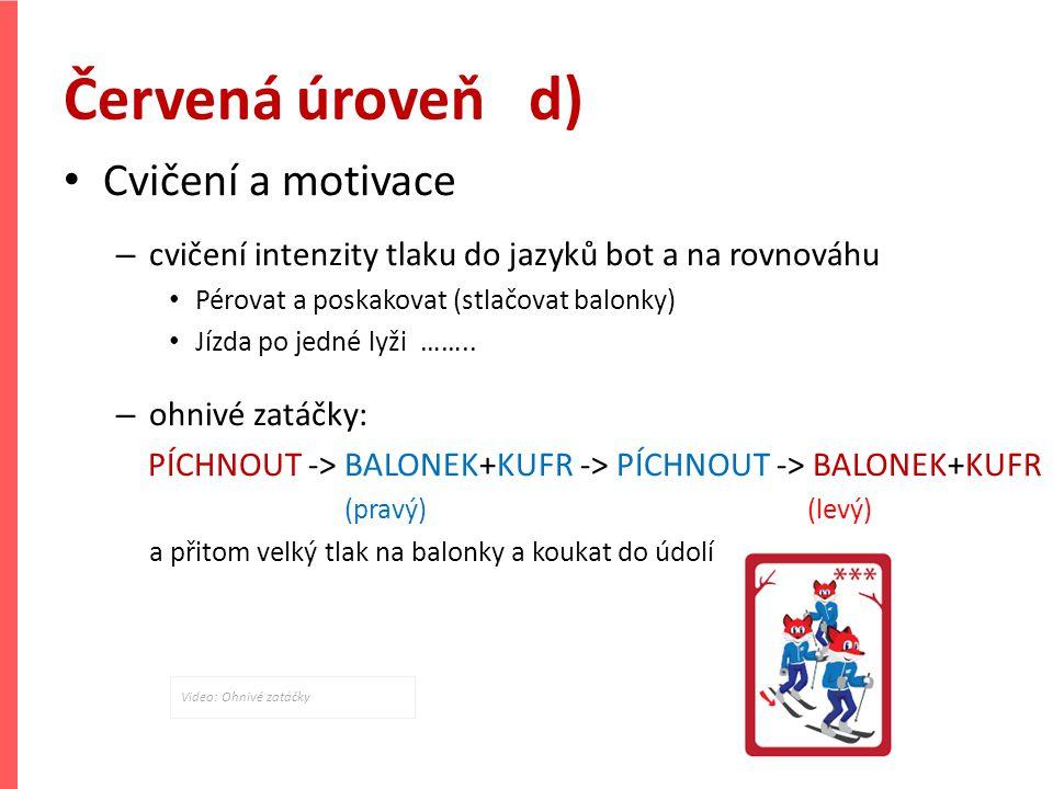 Červená úroveň d) Cvičení a motivace