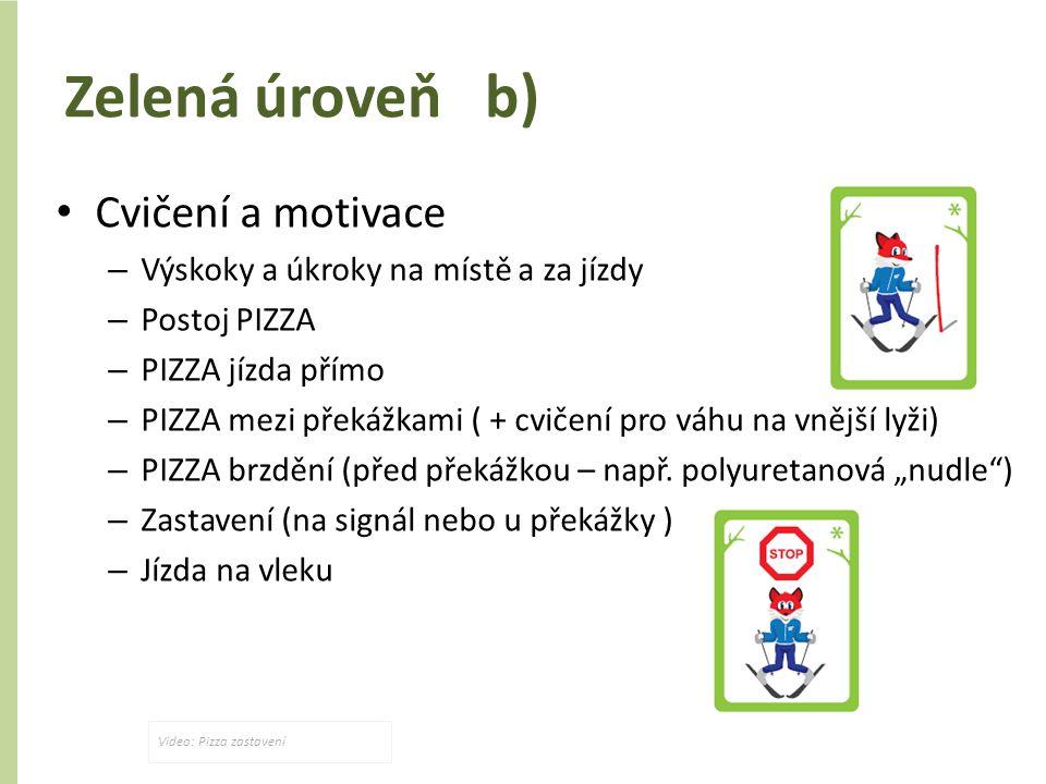 Zelená úroveň b) Cvičení a motivace