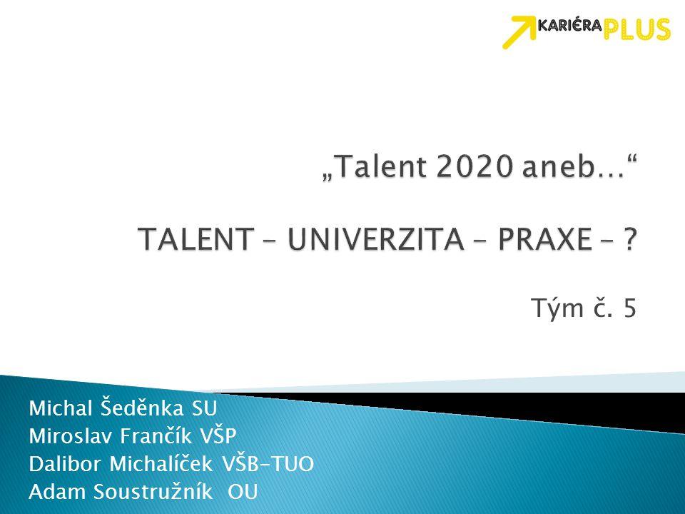 """Talent 2020 aneb… TALENT – UNIVERZITA – PRAXE –"