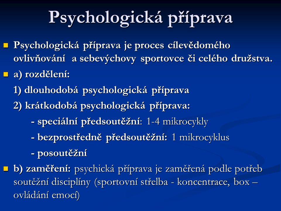 Psychologická příprava