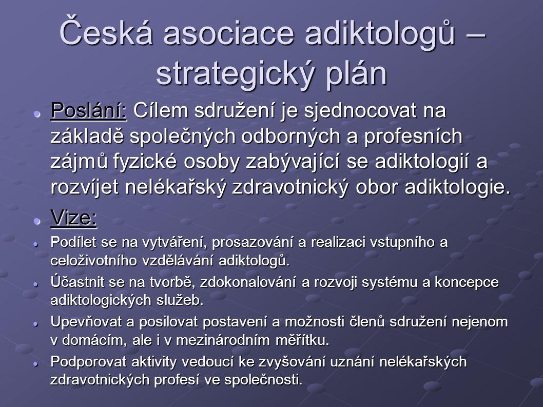 Česká asociace adiktologů – strategický plán