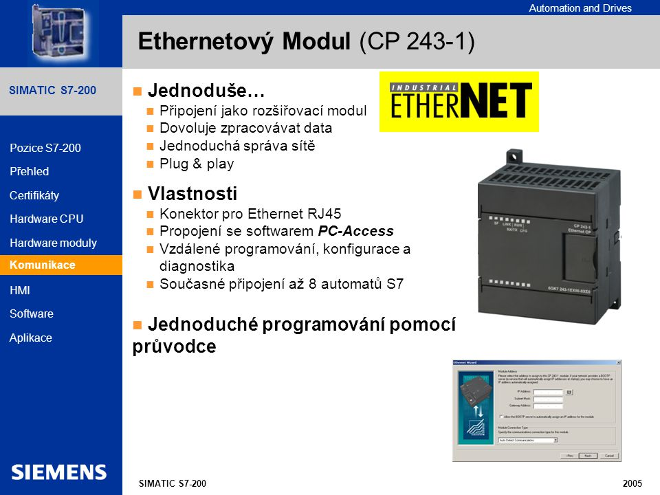 Ethernetový Modul (CP 243-1)