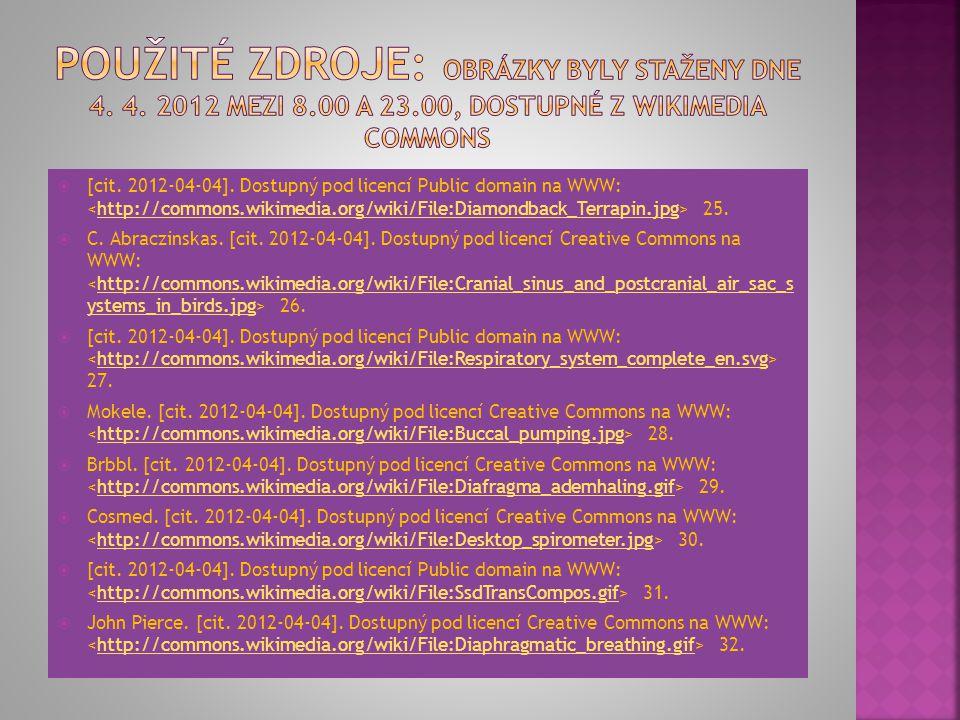 Použité zdroje: Obrázky byly staženy dne 4. 4. 2012 mezi 8. 00 a 23