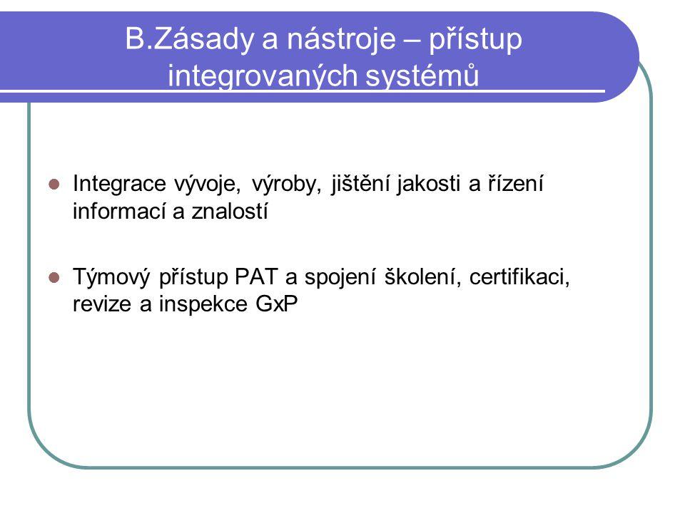 B.Zásady a nástroje – přístup integrovaných systémů