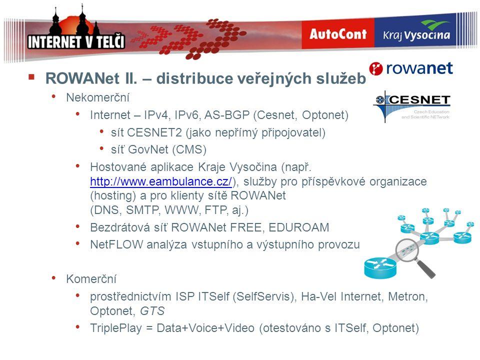 ROWANet II. – distribuce veřejných služeb